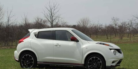 The Nissan Juke Nismo made for a fun but noisy ride.