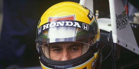 Little changed about Ayrton Senna's helmet over the course of his career.