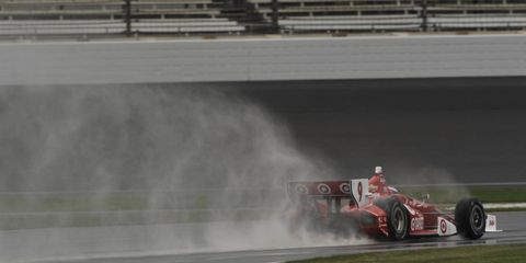 IndyCar champion Scott Dixon gets in some laps on the Indy road course.