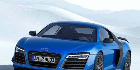 The limited-edition Audi R8 gets laser headlights -- well, laser highbeams -- and a few extra horsepower to boot.