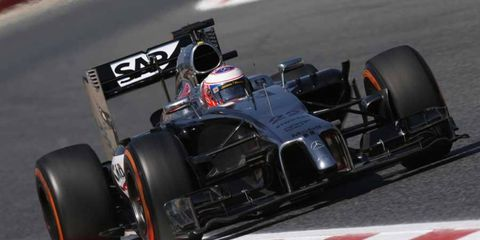 Jenson Button is currently eighth in the 2014 Formula One standings.