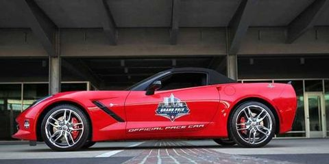 This year's Grand Prix of Indianapolis will follow a tradition of Corvette's pacing at Indy.