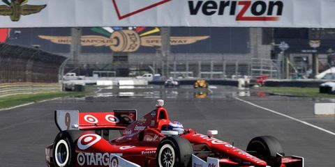 Scott Dixon toured the 14-turn, 2.439-mile road course at the Indianapolis Motor Speedway in 1 minute, 10.4654 seconds on Thursday.