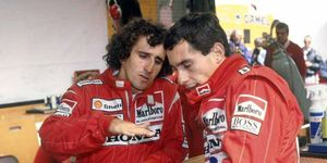 Ayrton Senna and Alain Prost had a notoriously tumultuous relationship over the course of their F1 careers.