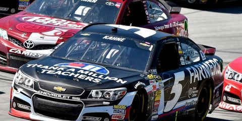 Kasey Kahne finished eighth at Talladega Superspeedway and sits 20th in the NASCAR Sprint Cup Series points.