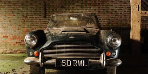 Perhaps as a reaction to the over-restored auction heroes of the early aughts, original unrestored cars, like this 1963 Aston Martin DB4 convertible, are highly valued.