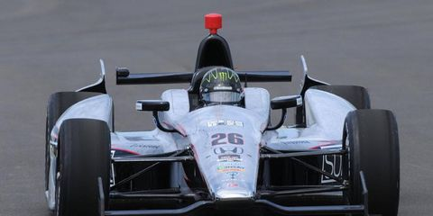 Kurt Busch, who previously passed his Indianapolis 500 rookie test, practiced at the Indianapolis Motor Speedway on Monday. Busch is driving for Andretti Autosport.