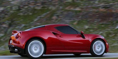 The Alfa Romeo 4C could handle more than its base 240 hp, company officials say.