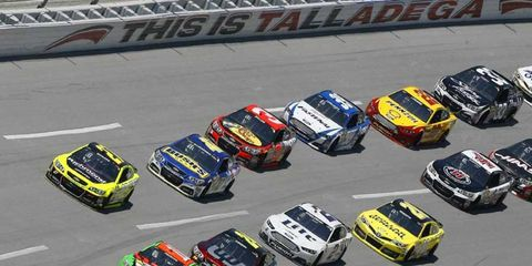 Danica Patrick led some of the earliest laps during the Aaron's 499 at Talladega Superspeedway.