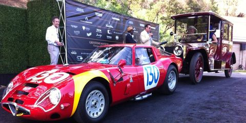 An Alfa TZ2 and Rolls-Royce Silver Ghost shared best in show at the Greystone Concours in Beverly Hills Sunday.