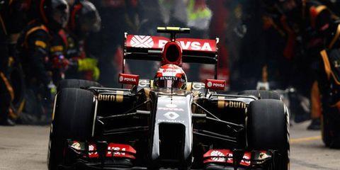 Pastor Maldonado and his sponsor, PDVSA, are with Lotus this season in Formula One.