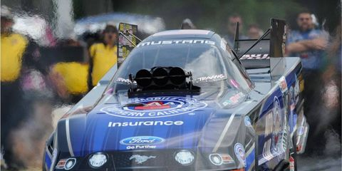 Robert Hight beat John Force Racing teammate Courtney Force in the final at Atlanta.
