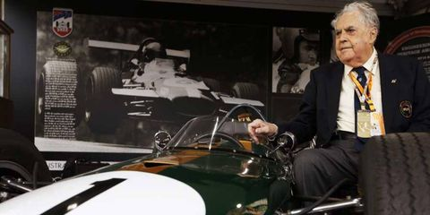 Sir Jack Brabham receives an Engineering Heritage Award on March 16, 2014.