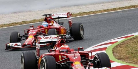 Kimi Raikkonen and Fernando Alonso are both struggling to keep up with the faster cars from Mercedes.