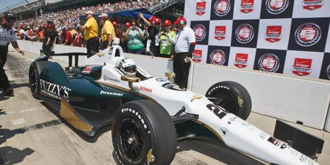 Ed Carpenter will lead the field at the start of the 98th Indianapolis 500 on May 25.