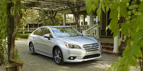 The 2015 Subaru Legacy starts at $22,490.