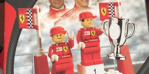 Would you like to own a Michael Schumacher Lego mini figure? You can if you're the top bidder on an Ebay auction.