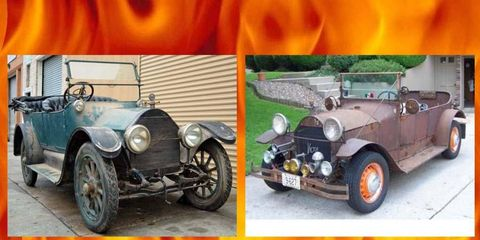 Hundred-year-old American classic cars for sale! Some rust...