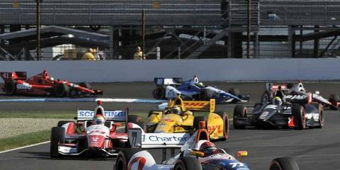 Simon Pagenaud won the Grand Prix of Indianapolis but was hit by fines for his car's underwing splitter.