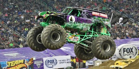 Grave Digger, just diggin' a grave. In the air.