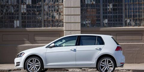 The 2015 Volkswagen Golf TDI is an attractive continuation of the Golf shape, now on the company's outstanding MQB platform.