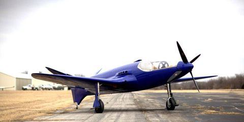 The re-created Bugatti 100P debuts for short stint in SoCal before first flight.