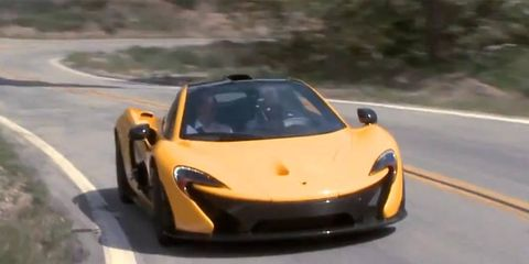 Jay Leno took delivery of his P1, promptly taking it to the canyons.