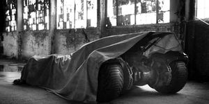 Director Zach Snyder tweeted this photo of the new Batmobile.