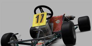 Ayrton Senna drove this DAP Racing go-kart to a victory in the 1978 World Karting Championship.