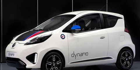The MG Dynamo is based on Roewe E50 underpinnings, and it has a range of 50 miles.