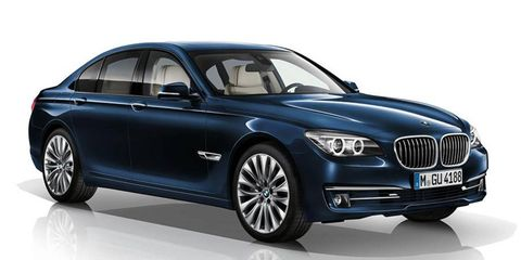 Metallic paint and special 19-inch wheels will set the Exclusive Edition apart from other 7-series sedans.