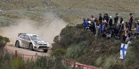 Jari-Matti Latvala won Rally Argentina on Sunday, beating out VW teammate and points leader Sebastien Ogier.