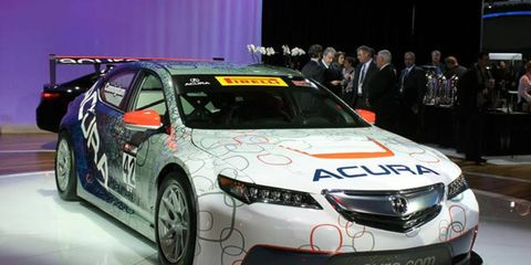 The Acura TLX GT race car will not debut at Detroit this weekend in the Pirelli World Challenge.