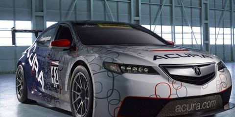 The Acura TLX GT is racing on Belle Isle in Detroit this weekend.