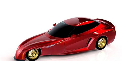 This is a rendering of how the DeltaWing road car could look.