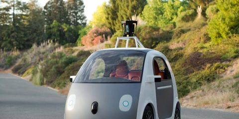 The prototype for Google's first self-driving car.