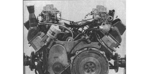 8 cylinders, 2.58 liters, 168 hp.