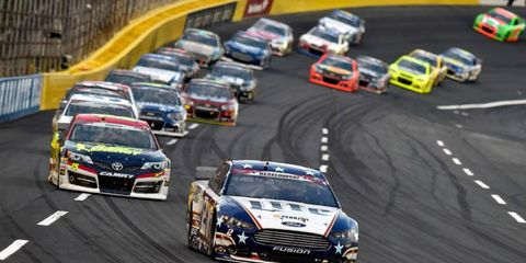 Brad Keslowski led 43 laps during the Coca-Cola 600 on Sunday night at Charlotte Motor Speedway.