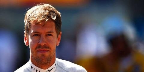 Sebastian Vettel is buried in sixth place in the Formula One points standings, a whopping 77 points behind Nico Rosberg.