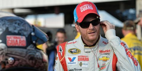Dale Earnhardt Jr. is still trying to do what his dad did three times at Charlotte Motor Speedway: win a NASCAR Cup Series points race.
