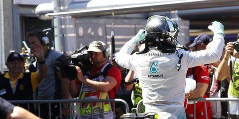 Nico Rosberg will start Sunday's Monaco Grand Prix from pole position.