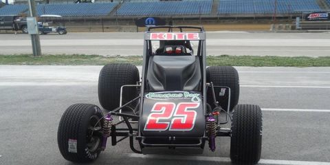 Eddie Sachs Jr.'s race team took part in the USAC Hoosier 100 on Thursday and will race again ahead of the Indy 500.