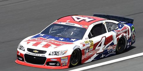 Kevin Harvick has three top-ten finishes in the last four races in the NASCAR Sprint Cup.