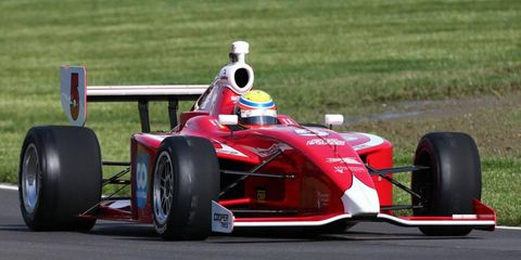 Gabby Chaves avenged a tough loss at Indianapolis Motor Speedway a year ago with a dramatic win on Friday.