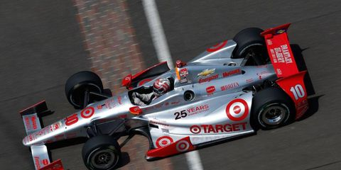 Tony Kanaan hopes to be first across the bricks again on Sunday. He was quickest in final practice on Friday.