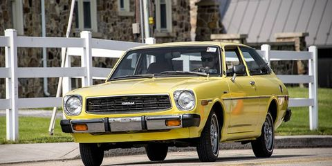 This classic Corolla was offered for sale in the car corral this year.