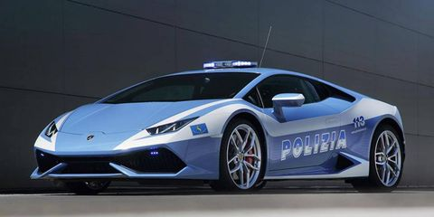 The Lamborghini Huracán LP 610-4 has been outfitted with police gear and Italian State Police livery.