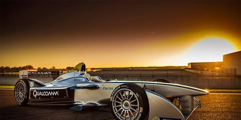Just one of the many sleek, futuristic race cars that will race Long Beach next April.