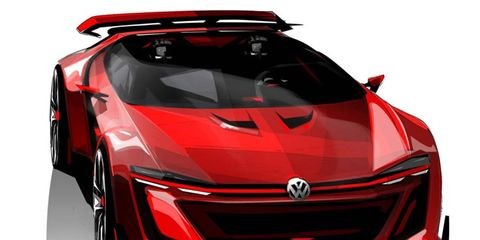 The Volkswagen GTI Roadster concept, shown here in official sketches, might be revealed in full-size at the Worthersee fan meet in Austria.
