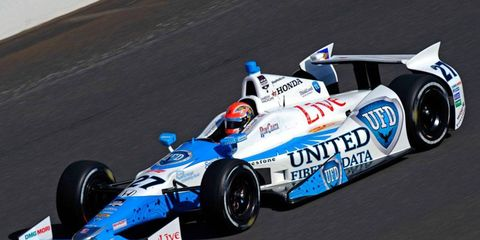 James Hinchcliffe will be starting in the middle of the first road for Honda in the Indianapolis 500.